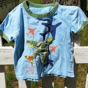 Mini Boden airplane shirt 2 - 3 years
